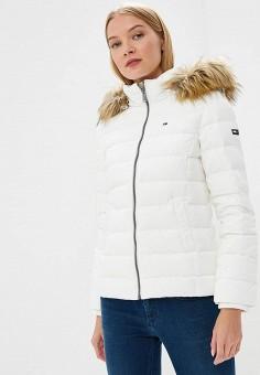 Пуховик, Tommy Jeans, цвет: белый. Артикул: TO052EWBIDD2. Одежда / Верхняя одежда / Зимние куртки
