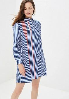 Платье, Tommy Jeans, цвет: синий. Артикул: TO052EWBWGF8. Одежда / Платья и сарафаны