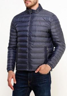 Пуховик, Tommy Hilfiger, цвет: синий. Артикул: TO263EMUFM07. Одежда / Верхняя одежда / Пуховики и зимние куртки