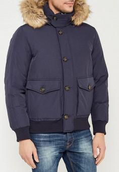 Пуховик, Tommy Hilfiger, цвет: синий. Артикул: TO263EMUFN83. Одежда / Верхняя одежда / Пуховики и зимние куртки