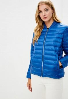 Куртка утепленная, Tommy Hilfiger, цвет: синий. Артикул: TO263EWBICF2. Одежда / Верхняя одежда / Демисезонные куртки