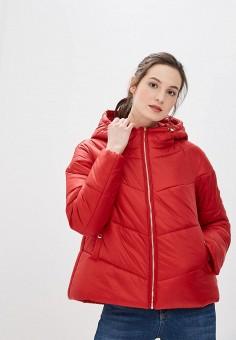 Куртка утепленная, Tommy Hilfiger, цвет: красный. Артикул: TO263EWBICG7. Одежда / Верхняя одежда / Демисезонные куртки