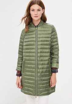 Пуховик, Tommy Hilfiger, цвет: зеленый. Артикул: TO263EWBICN0. Одежда / Верхняя одежда / Зимние куртки