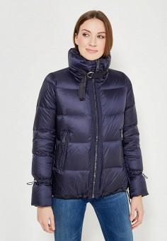 Пуховик, Tommy Hilfiger, цвет: синий. Артикул: TO263EWZFV37. Одежда / Верхняя одежда / Пуховики и зимние куртки