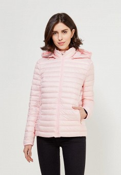 Пуховик, Tommy Hilfiger, цвет: розовый. Артикул: TO263EWZFV50. Одежда / Верхняя одежда