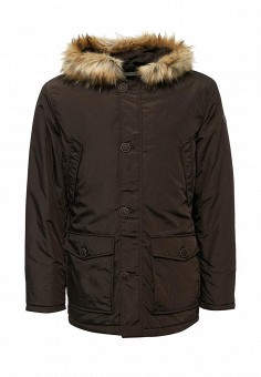 Куртка утепленная, Trussardi Collection, цвет: коричневый. Артикул: TR002EMXSY86. Мужская одежда / Верхняя одежда / Пуховики и зимние куртки