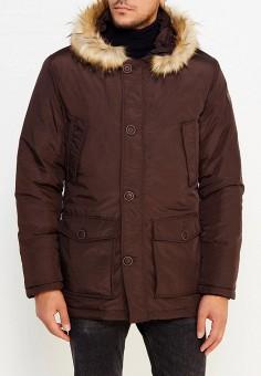 Куртка утепленная, Trussardi Collection, цвет: коричневый. Артикул: TR002EMXSY86. Одежда / Верхняя одежда / Пуховики и зимние куртки