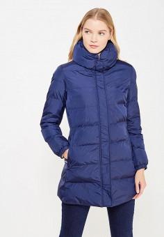 Куртка утепленная, Trussardi Collection, цвет: синий. Артикул: TR002EWXTC80. Одежда / Верхняя одежда