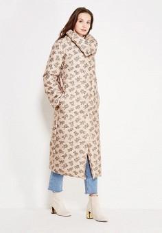 Куртка утепленная, TrendyAngel, цвет: бежевый. Артикул: TR015EWWOV61. Одежда / Верхняя одежда / Пуховики и зимние куртки