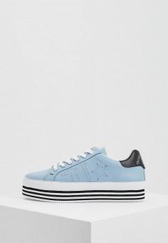 Кеды, Trussardi Jeans, цвет: голубой. Артикул: TR016AWAEUF6. Обувь