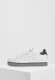 Кеды, Trussardi Jeans, цвет: белый. Артикул: TR016AWAEUG0. Обувь
