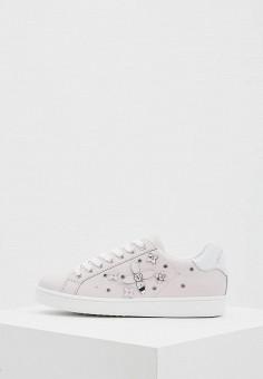 Кеды, Trussardi Jeans, цвет: розовый. Артикул: TR016AWAEUQ1. Обувь