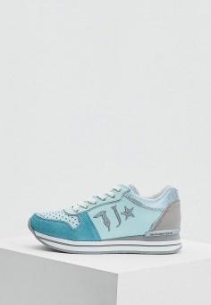 Кроссовки, Trussardi Jeans, цвет: голубой. Артикул: TR016AWAEUR0. Обувь