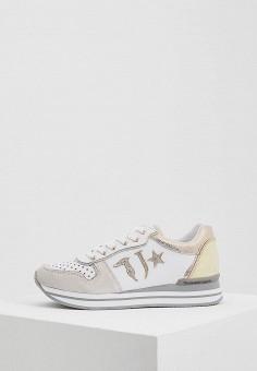 Кроссовки, Trussardi Jeans, цвет: белый. Артикул: TR016AWAEUR1. Обувь