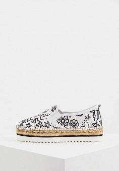 Эспадрильи, Trussardi Jeans, цвет: белый. Артикул: TR016AWAEUR2. Обувь