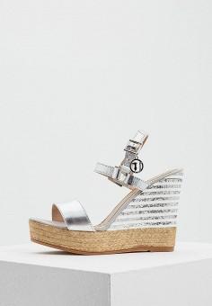 Босоножки, Trussardi Jeans, цвет: серебряный. Артикул: TR016AWAEUR4. Обувь