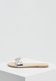 Сабо, Trussardi Jeans, цвет: серебряный. Артикул: TR016AWAEUS0. Обувь