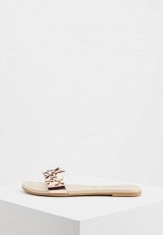 Сабо, Trussardi Jeans, цвет: бежевый. Артикул: TR016AWAEUS1. Обувь