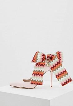 Туфли, Trussardi Jeans, цвет: розовый. Артикул: TR016AWAEUS6. Обувь