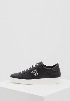 Кеды, Trussardi Jeans, цвет: черный. Артикул: TR016AWAEUS9. Обувь