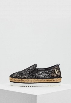 Эспадрильи, Trussardi Jeans, цвет: черный. Артикул: TR016AWAEUT5. Обувь