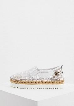 Слипоны, Trussardi Jeans, цвет: белый. Артикул: TR016AWAEUT6. Обувь