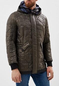 Куртка утепленная, Trussardi Jeans, цвет: зеленый. Артикул: TR016EMBUVP4. Одежда / Верхняя одежда / Демисезонные куртки
