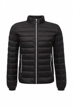 Пуховик, Trussardi Jeans, цвет: черный. Артикул: TR016EMUWE43. Премиум / Одежда / Верхняя одежда / Пуховики