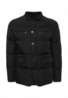 Пуховик, Trussardi Jeans, цвет: черный. Артикул: TR016EMUWE51. Премиум / Одежда / Верхняя одежда / Пуховики