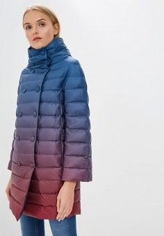 Пуховик, Trussardi Jeans, цвет: мультиколор. Артикул: TR016EWBUVQ4. Premium / Одежда / Верхняя одежда / Зимние куртки