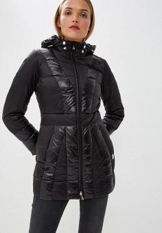 Пуховик, Trussardi Jeans, цвет: черный. Артикул: TR016EWBUVQ5. Premium / Одежда / Верхняя одежда / Зимние куртки