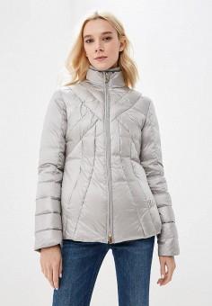 Пуховик, Trussardi Jeans, цвет: серый. Артикул: TR016EWBUVR1. Premium / Одежда / Верхняя одежда / Зимние куртки