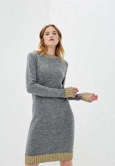 Платье, Trussardi Jeans, цвет: серый. Артикул: TR016EWBUVR4. Premium / Одежда / Платья и сарафаны