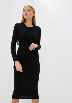 Платье, Trussardi Jeans, цвет: черный. Артикул: TR016EWBUVR5. Premium / Одежда / Платья и сарафаны