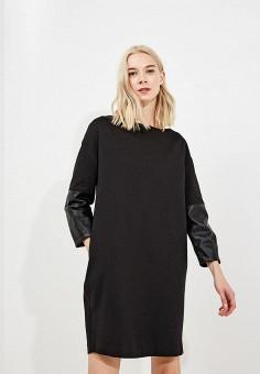 Платье, Trussardi Jeans, цвет: черный. Артикул: TR016EWBUVR9. Premium / Одежда / Платья и сарафаны