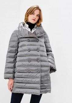 Пуховик, Trussardi Jeans, цвет: серый. Артикул: TR016EWUWF06. Одежда / Верхняя одежда / Зимние куртки