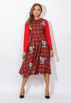 Платье, Tutto Bene, цвет: красный. Артикул: TU009EWATTW5. Одежда / Платья и сарафаны