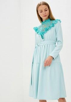 Платье, Tutto Bene, цвет: бирюзовый. Артикул: TU009EWATUF4. Одежда