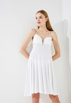 Платье пляжное, Twin-Set Simona Barbieri, цвет: белый. Артикул: TW005EWZLY72. Premium / Одежда / Платья и сарафаны