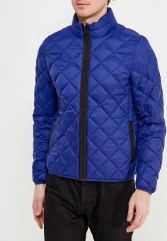 Пуховик, United Colors of Benetton, цвет: синий. Артикул: UN012EMACDG0. Одежда / Верхняя одежда / Пуховики и зимние куртки