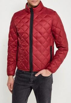 Пуховик, United Colors of Benetton, цвет: бордовый. Артикул: UN012EMACDG2. Одежда / Верхняя одежда / Пуховики и зимние куртки