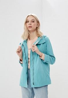 Ветровка, United Colors of Benetton, цвет: голубой. Артикул: UN012EWABZH1. Одежда / Верхняя одежда / Легкие куртки и ветровки