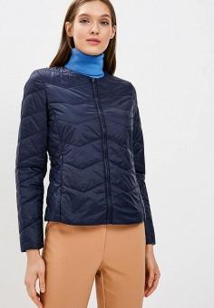 Куртка утепленная, United Colors of Benetton, цвет: синий. Артикул: UN012EWBYOK3. Одежда / Верхняя одежда / Демисезонные куртки