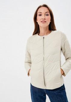 Куртка утепленная, United Colors of Benetton, цвет: бежевый. Артикул: UN012EWBYOK7. Одежда / Верхняя одежда / Демисезонные куртки