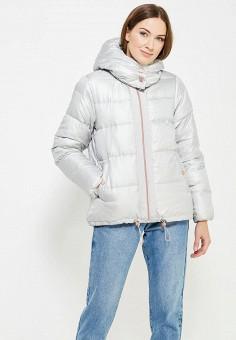 Пуховик, United Colors of Benetton, цвет: серый. Артикул: UN012EWWLZ35. Одежда / Верхняя одежда