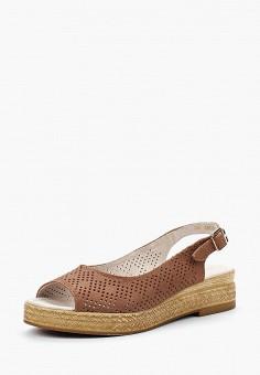 Босоножки, Юничел, цвет: коричневый. Артикул: UN014AWBAVO6. Обувь / Босоножки