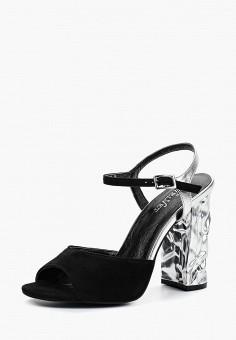 Босоножки, Velvet, цвет: черный. Артикул: VE002AWBAFQ1. Обувь / Босоножки