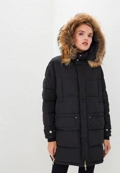 Пуховик, Versace Jeans, цвет: черный. Артикул: VE006EWBVAO8. Одежда / Верхняя одежда / Зимние куртки