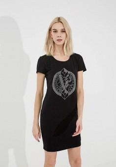Платье, Versace Jeans, цвет: черный. Артикул: VE006EWZIB27. Premium / Одежда / Платья и сарафаны