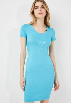 Платье, Versace Jeans, цвет: голубой. Артикул: VE006EWZIB30. Premium / Одежда / Платья и сарафаны